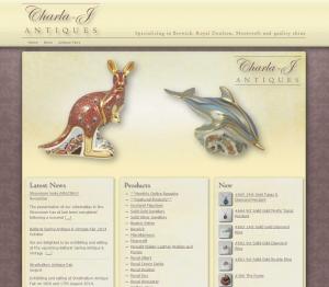 Charla-J Antiques Website Screenshot