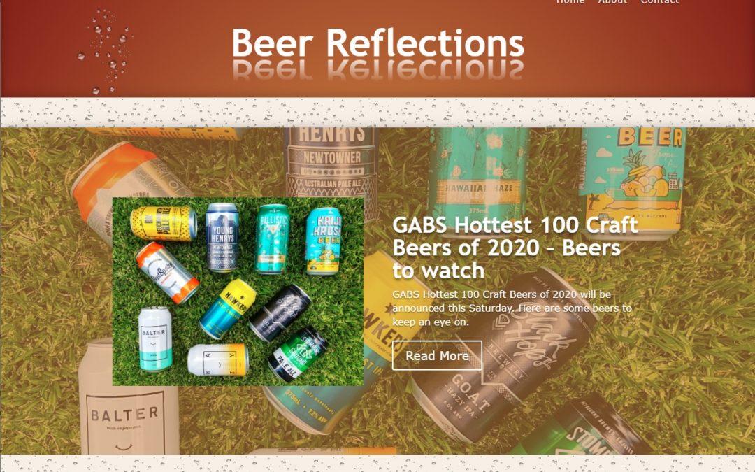 Beer Reflections website screenshot